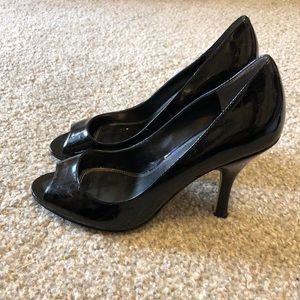 Enzo Angiolini Black Peep Toe Pumps